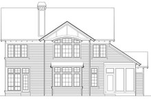 Home Plan - Rear View - 3250 square foot Craftsman home