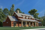 Country Style House Plan - 4 Beds 3 Baths 2765 Sq/Ft Plan #923-195 Exterior - Other Elevation