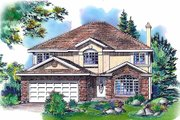 Traditional Style House Plan - 6 Beds 3.5 Baths 2912 Sq/Ft Plan #18-9343 Exterior - Front Elevation