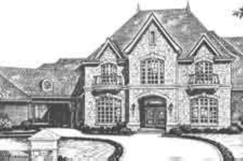 European Exterior - Front Elevation Plan #310-354 - Houseplans.com