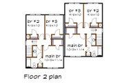 Southern Style House Plan - 2 Beds 2 Baths 2174 Sq/Ft Plan #79-240 Floor Plan - Upper Floor Plan