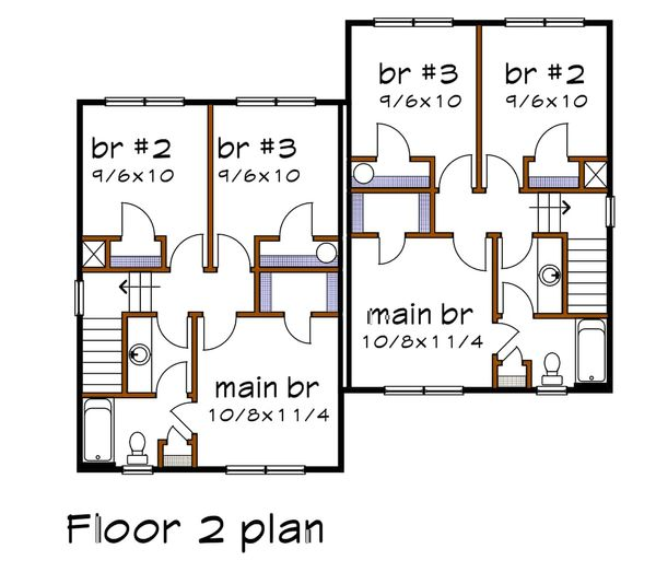 House Plan Design - Southern Floor Plan - Upper Floor Plan #79-240
