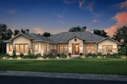 Ranch Style House Plan - 4 Beds 3.5 Baths 3044 Sq/Ft Plan #430-186 Exterior - Front Elevation