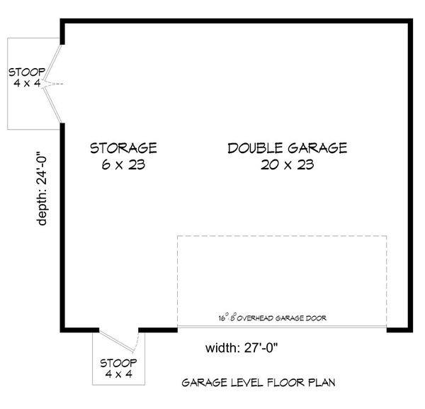 Contemporary Floor Plan - Main Floor Plan #932-316