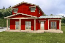 Farmhouse Exterior - Rear Elevation Plan #497-21