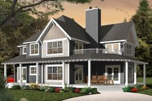 Dream House Plan - Traditional Exterior - Front Elevation Plan #23-2510
