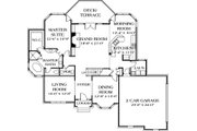Traditional Style House Plan - 5 Beds 4.5 Baths 3806 Sq/Ft Plan #453-32 Floor Plan - Main Floor Plan