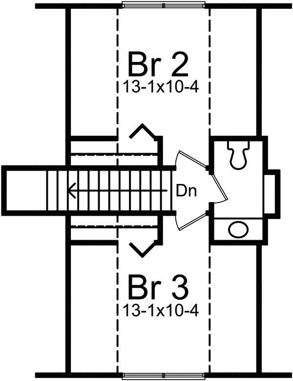 Cottage Floor Plan - Upper Floor Plan Plan #57-240