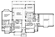 Craftsman Floor Plan - Main Floor Plan Plan #935-10