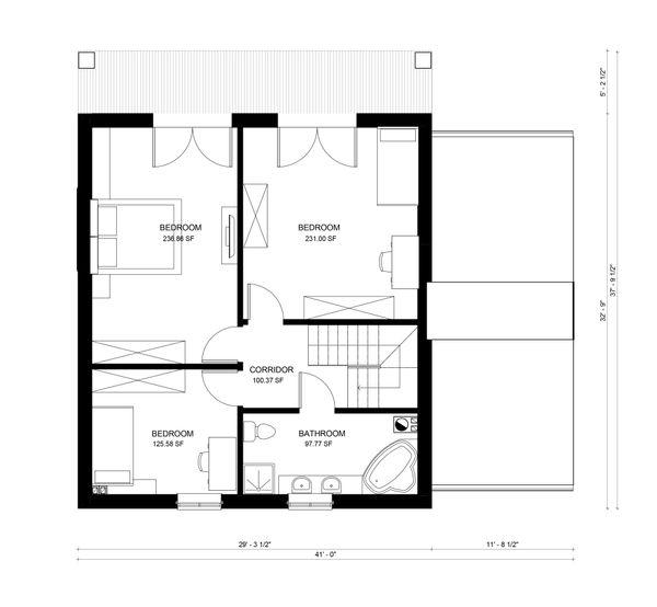 European Floor Plan - Upper Floor Plan Plan #906-6
