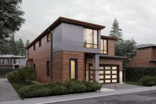 Contemporary Exterior - Front Elevation Plan #1066-7