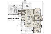 Farmhouse Style House Plan - 3 Beds 2.5 Baths 2241 Sq/Ft Plan #51-1131 Floor Plan - Main Floor Plan