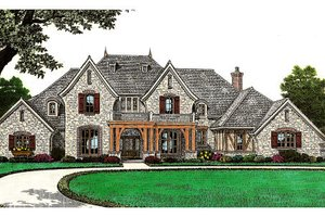 House Plan Design - European Exterior - Front Elevation Plan #310-645
