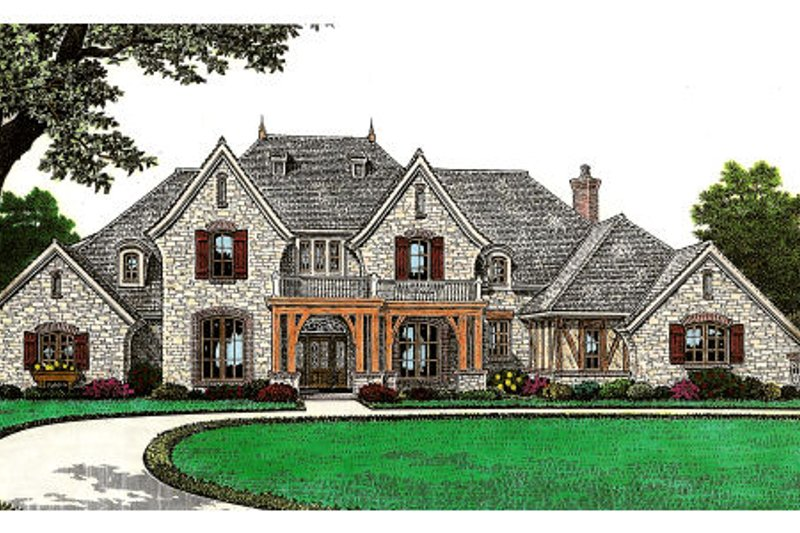 European Exterior - Front Elevation Plan #310-645