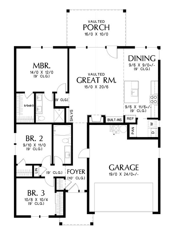Contemporary Floor Plan - Main Floor Plan #48-1039