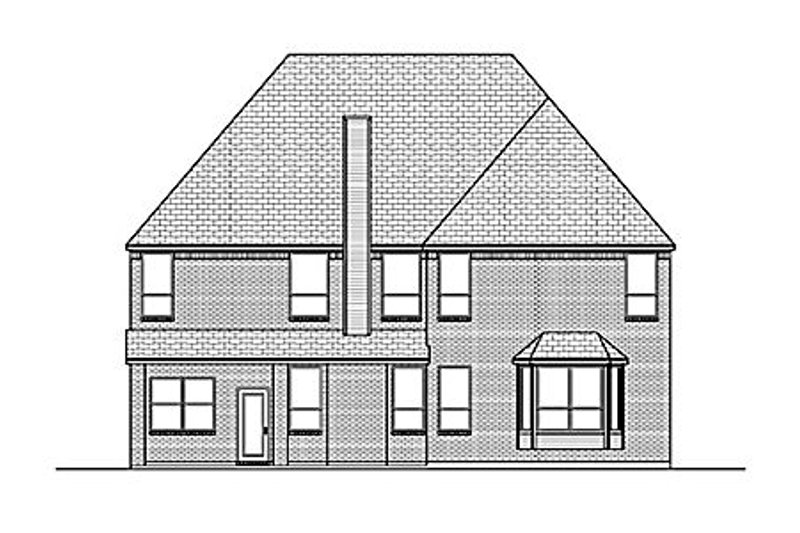 European Exterior - Rear Elevation Plan #84-466 - Houseplans.com