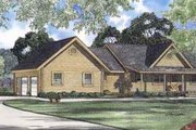 Log Style House Plan - 3 Beds 2 Baths 1616 Sq/Ft Plan #17-460 Exterior - Front Elevation