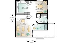 Country Floor Plan - Main Floor Plan Plan #23-262