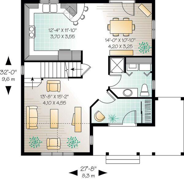 Home Plan Design - Country Floor Plan - Main Floor Plan #23-262