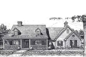 Colonial Exterior - Front Elevation Plan #310-956