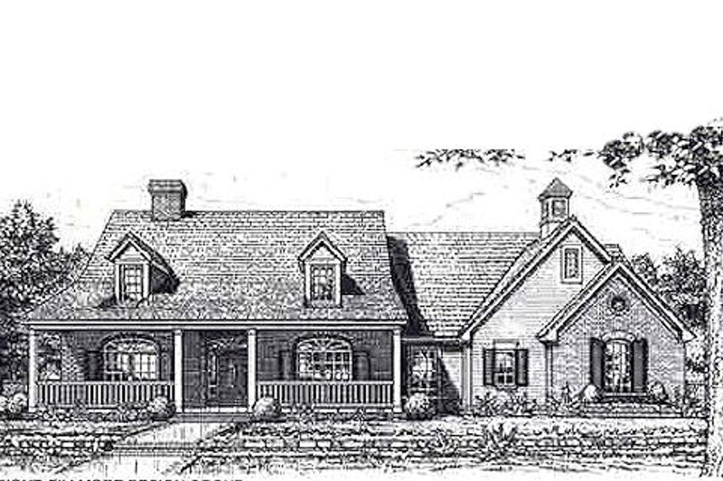 Colonial Style House Plan - 3 Beds 2 Baths 2243 Sq/Ft Plan #310-956 Exterior - Front Elevation