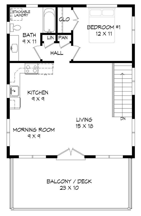 Contemporary Floor Plan - Upper Floor Plan Plan #932-95
