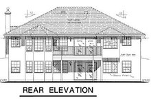 House Blueprint - Mediterranean Exterior - Rear Elevation Plan #18-150