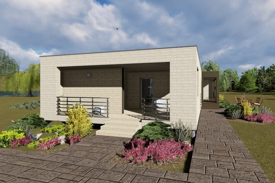 Modern Exterior - Front Elevation Plan #549-4