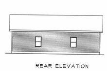 House Plan Design - Traditional Exterior - Rear Elevation Plan #22-406