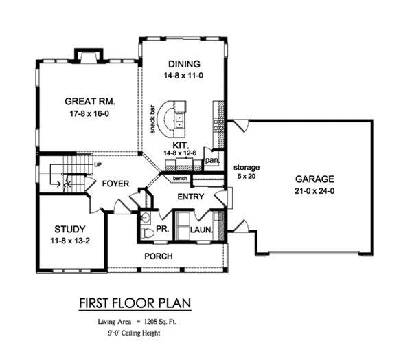 Traditional Floor Plan - Main Floor Plan Plan #1010-231