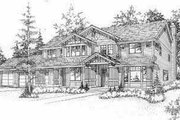 Bungalow Style House Plan - 3 Beds 2.5 Baths 2646 Sq/Ft Plan #78-128 Exterior - Front Elevation