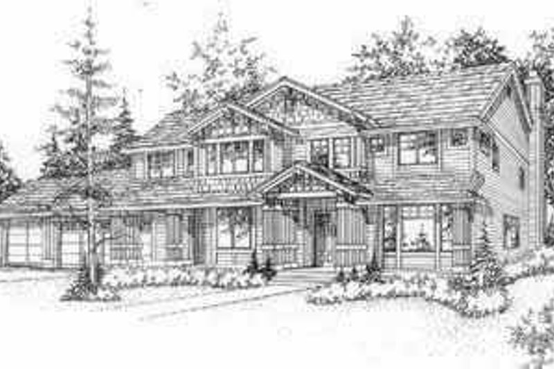 Bungalow Style House Plan - 3 Beds 2.5 Baths 2646 Sq/Ft Plan #78-128