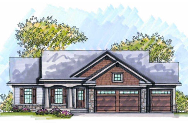 Dream House Plan - Craftsman style, Bungalow design, elevation