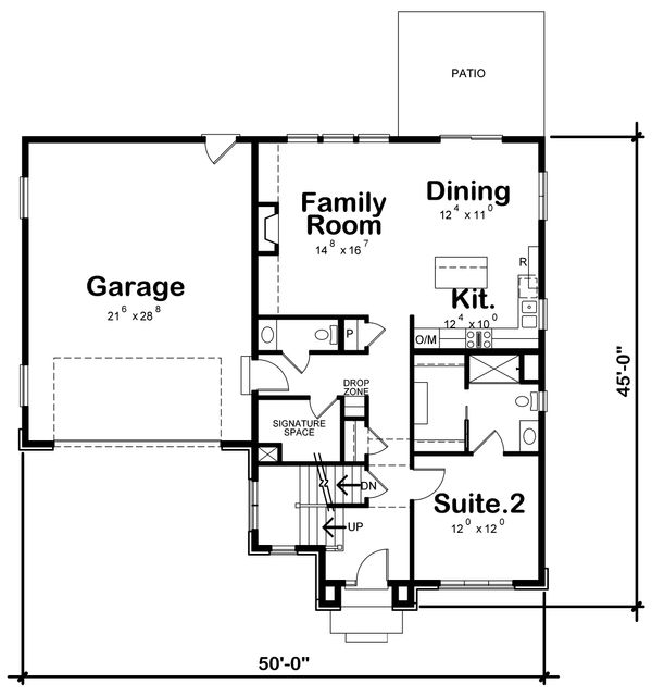 Traditional Floor Plan - Main Floor Plan Plan #20-2282