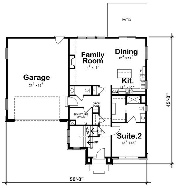 House Plan Design - Traditional Floor Plan - Main Floor Plan #20-2282
