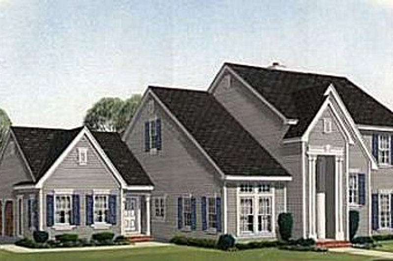 Colonial Exterior - Front Elevation Plan #410-366 - Houseplans.com