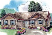 Traditional Style House Plan - 3 Beds 2 Baths 1916 Sq/Ft Plan #18-4461 Exterior - Front Elevation