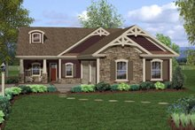 Dream House Plan - Craftsman Exterior - Front Elevation Plan #56-698