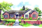 Traditional Style House Plan - 3 Beds 2 Baths 2000 Sq/Ft Plan #21-139 Exterior - Front Elevation
