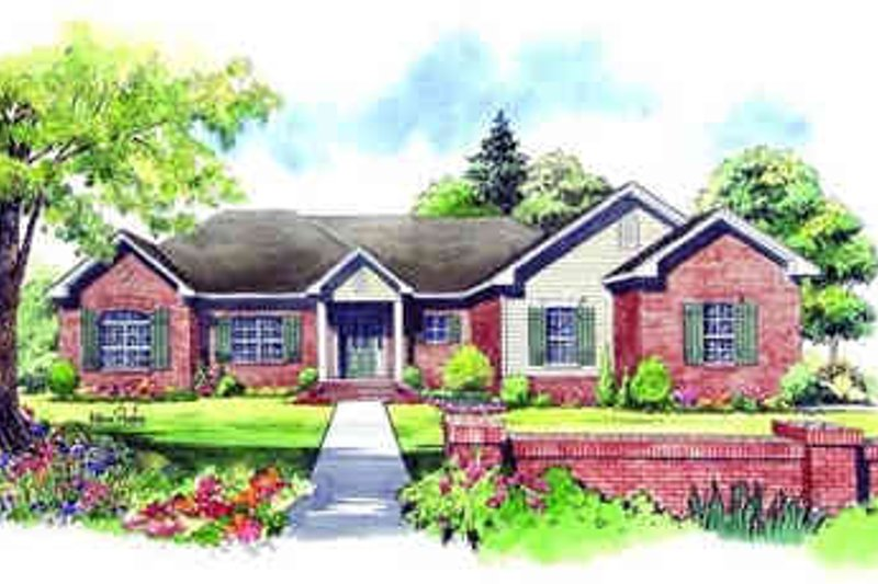 Traditional Exterior - Front Elevation Plan #21-139 - Houseplans.com