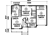 Country Style House Plan - 2 Beds 1 Baths 806 Sq/Ft Plan #25-4537 Floor Plan - Main Floor