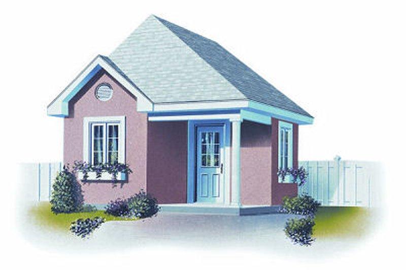 Cottage Exterior - Front Elevation Plan #23-759