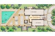 Mediterranean Style House Plan - 3 Beds 3.5 Baths 2664 Sq/Ft Plan #548-9 Floor Plan - Lower Floor