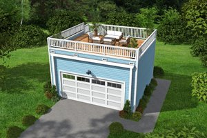 Contemporary Exterior - Front Elevation Plan #932-157