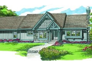 Craftsman Exterior - Front Elevation Plan #47-327