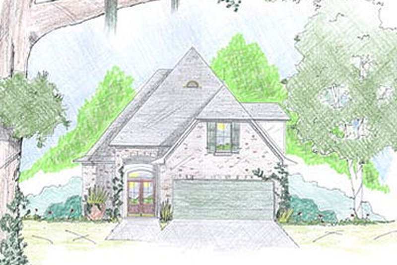 Cottage Exterior - Front Elevation Plan #36-457