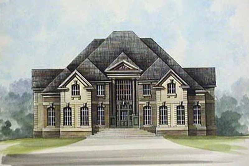 European Exterior - Front Elevation Plan #119-239