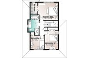 Country Style House Plan - 3 Beds 1.5 Baths 1347 Sq/Ft Plan #23-2119 Floor Plan - Upper Floor Plan