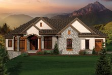 Ranch Exterior - Front Elevation Plan #70-1067