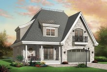 Dream House Plan - Front View - 2600 square foot European home
